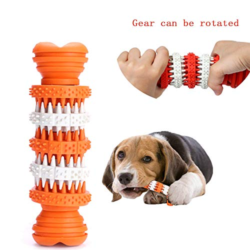 Euone  Doggy Brush Stick Clearance , Dog Molar Stick Brushing Stick Dogs Effective Toothbrush Doggy Brush Stick (Orange) ()