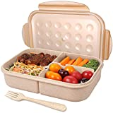 Bento Box for Kids,Children Kids Lunch Box,Lunch Containers with 3 Compartments,Microwave Safe,Dishwasher Safe,Freezer Safe(Flatware Included)