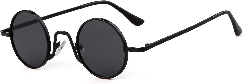 SORVINO Retro Small Round Sunglasses for Men Women Vintage John Lennon Style Metal Frame