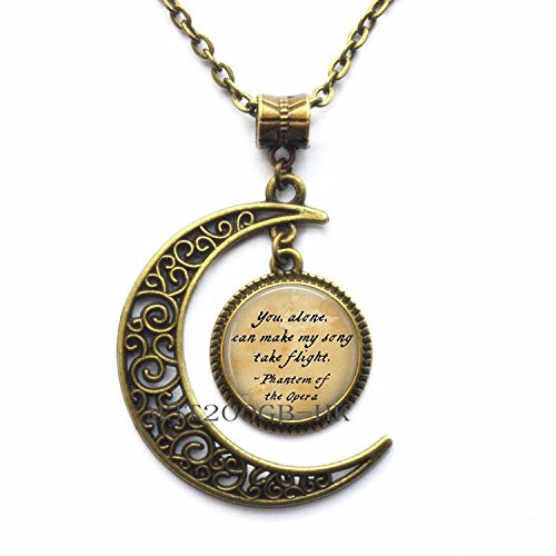 Botewo0lbei you alone can make my song Necklace,Opera Necklace,Gift for Women,wedding jewelry glass jewelry-MT060 (W2)]()
