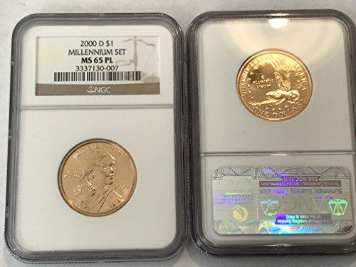 2000 D Sacagawea Dollar (Sacajawea) MILLENNIUM SET RARE PROOF-LIKE (PL) $1 MS-65 NGC PL