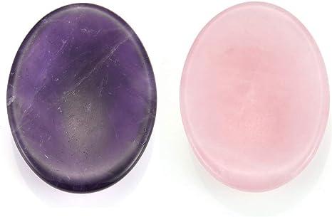 Amethyst Crystal Stress Reducing Pocket Stones Set Labradorite Crystal Healing Crystals Rose Quartz Crystal Pocket Set