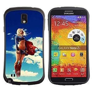LASTONE PHONE CASE / Suave Silicona Caso Carcasa de Caucho Funda para Samsung Note 3 N9000 N9002 N9005 / Funny Sexy Super Woman Superhero