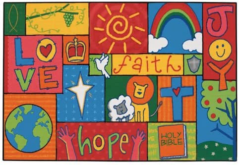 Carpets for Kids 48.71 Inspirational Patchwork 4 ft. x 6 ft.