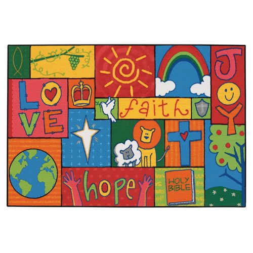 Inspirational Patchwork KID$ Value Rug - 3' x 4'6