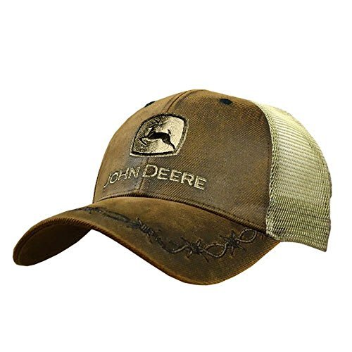 John Deere Mens Oilskin Khaki Mesh Back Embroidered Hat at Amazon ... dbeff0a9a8a