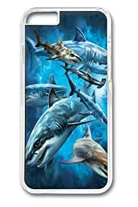 For LG G3 Case Cover Shark Collage Polycarbonate Hard Case Back For LG G3 Case Cover Transparent