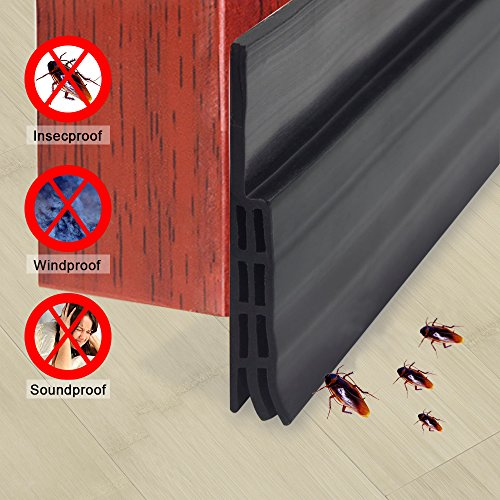 Stop Now Under Door Weatherstrip Seal Weather Stripping Door Bottom Seal Strip Door Draft Stopper for Noise Insulation, 2