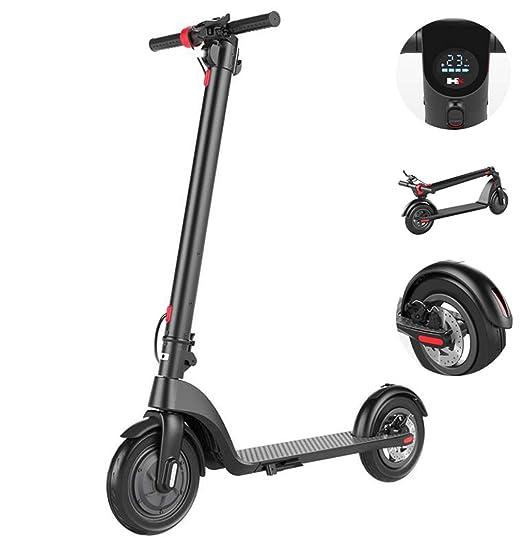 Amazon.com: ZTYD Scooter eléctrico plegable, hasta 15,5 MPH ...