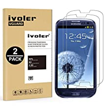 [2 Pack] Galaxy S4 Screen Protector- iVoler Premium Tempered Glass Screen Protector for Samsung Galaxy S4 - 0.2mm Ballistics Glass, 2.5D Round Edge, 9H Hardness Featuring Anti-Scratch, Anti-Fingerprint, Bubble Free- Lifetime Replacement Warranty