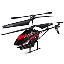 WLtoys V398 Helicopter Missile Shooting Helicopter. RC Helicopter Shoots Missiles RC Shooting HOT! RTF with Six Missiles rapid fire RC Helicopter that Shoots (Red)