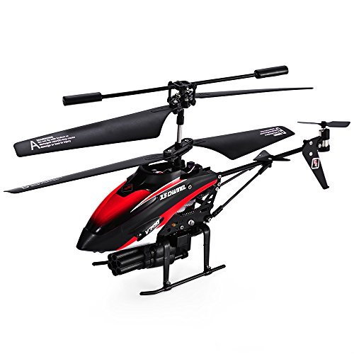 WLtoys V398 Helicopter Missile Shooting Helicopter. RC Helicopter Shoots Missiles RC Shooting HOT! RTF with Six Missiles rapid fire RC Helicopter that Shoots (Goblin Outfit)