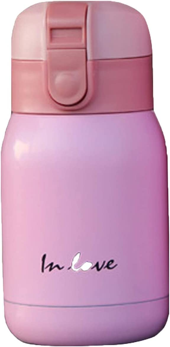 Vacuum Cup Stainless Steel Leak Proof Water Bottle for Hot and Cold Drinks,6.5oz Insulated Water Flask Perfect for Kids Girls Ladies (PINK, 200ML)