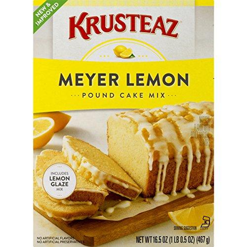 Krusteaz Meyer Lemon Pound Cake and Glaze Mix, 16.5-Ounce Boxes (Pack of 12) (Moist Cake Lemon Pound)