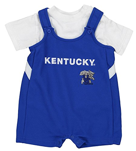 Kentucky Wildcats NCAA Baby Boys Infant Short-All & Creeper Set, Blue & White