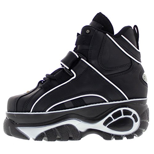 Buffalo Womens 1348-14 Leather Boots Black