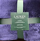 Lauren Ralph Lauren Plush Micromink Blanket - Navy - Queen / Full