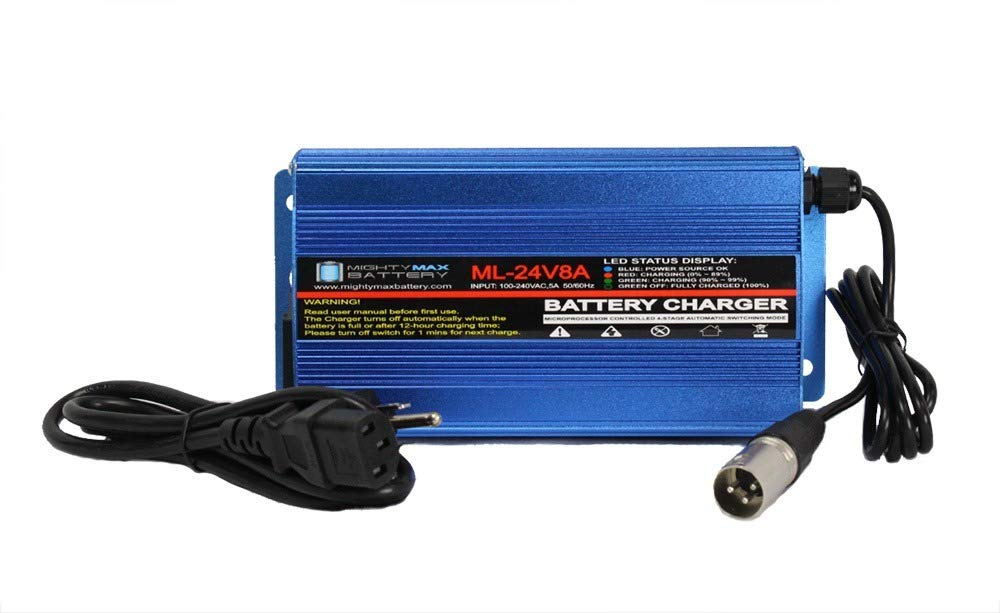 Mighty Max Battery 24 Volt 8 Amp Charger for MK Electric Mobility Scooter, Wheelchair Brand Product