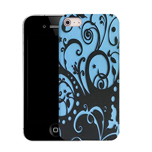 Mobile Case Mate IPhone 5 clip on Silicone Coque couverture case cover Pare-chocs + STYLET - BLUE ENTANGLEMENT pattern (SILICON)