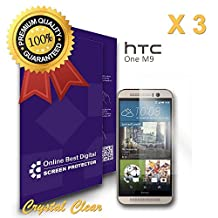OBiDi - HTC One (M9) Screen Protector, Crystal Clear / Transparent - OBD Retail Packaging (Pack of 3)