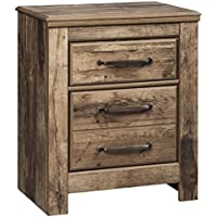 Blaneville Two Drawer Night Stand Brown/Casual