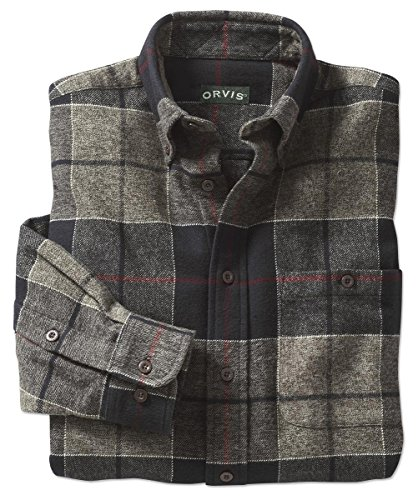 Orvis Flannel Exploded Patterns Long-sleeved Shirt, Black, Medium