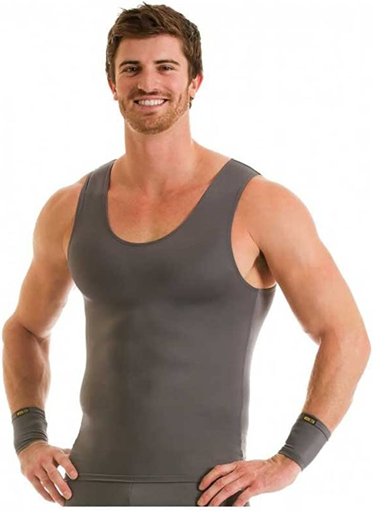 Insta Slim Muscle Tank Men's Compression Slimming Under Shirt