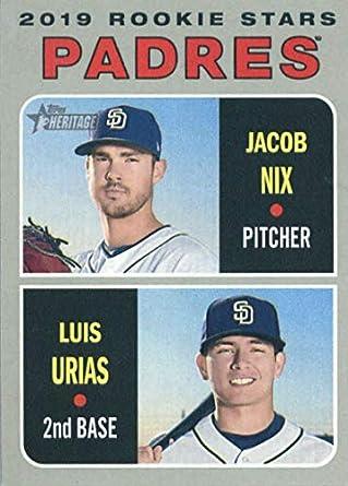 6882eb575d7 Amazon.com  Baseball MLB 2019 Topps Heritage  262 Jacob Nix Luis Urias  262  NM+ RC Rookie Padres  Collectibles   Fine Art