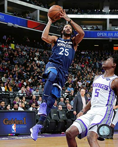 944c7e842 Amazon.com  Derrick Rose Minnesota Timberwolves 2018-2019 NBA Action Photo  (Size  8