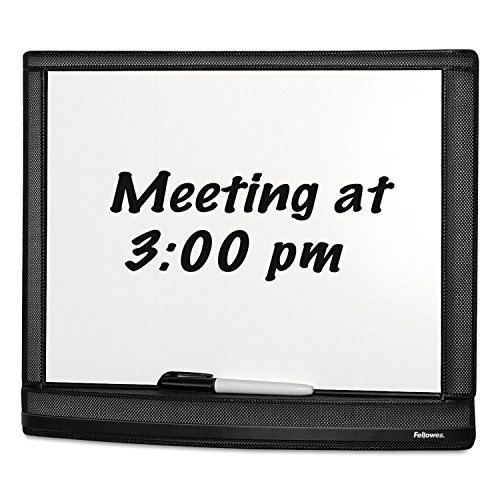 Fellowes Dry-Erase Board, w/ Marker, Mesh, 16-1/4quot;x1quot;x13quot;, Black (7703101) (Fellowes Dry Erase)