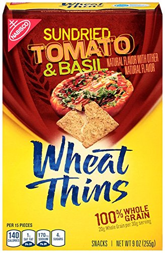 Wheat Thins Sun Dried Tomato Basil Baked Crackers, 9-Ounce Review