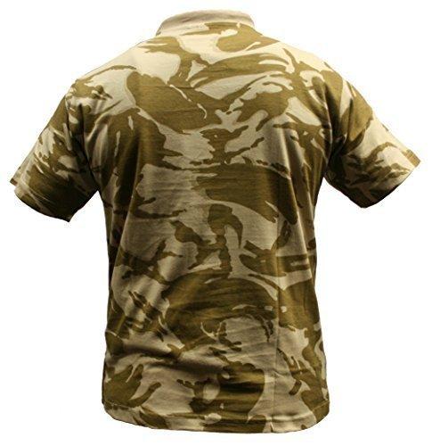 b89f560b Adults Camo Army Cargo Combat Military T-shirt crew neck (S, British Desert