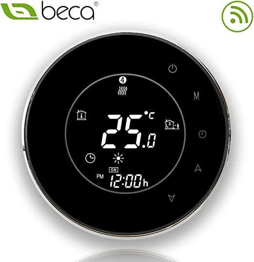 BHT-6000GBLW Noir BECA 95 ~ 240VAC 16A Smart WIFI LCD /Écran Tactile Sans Fil Programmable Sous-Sol Chauffage Thermostat