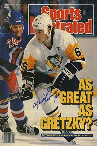 Mario Lemieux Sports Illustrated Autograph Replica Super Print - 3/18/1991 - Unframed