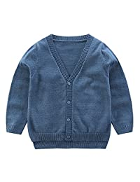 CJ Fashion V Neck Cardigan Sweater for Toddler Boy Kids Cardigans Long Sleeve 2-7Y