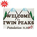 CafePress - Welcome To Twin Peaks Population Magnets - Rectangle Magnet, 2''x3'' Refrigerator Magnet (10 pack)