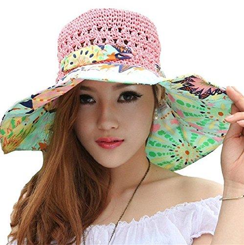 Amazon.com  Sun Beach Hat 61d9e4ed4f66