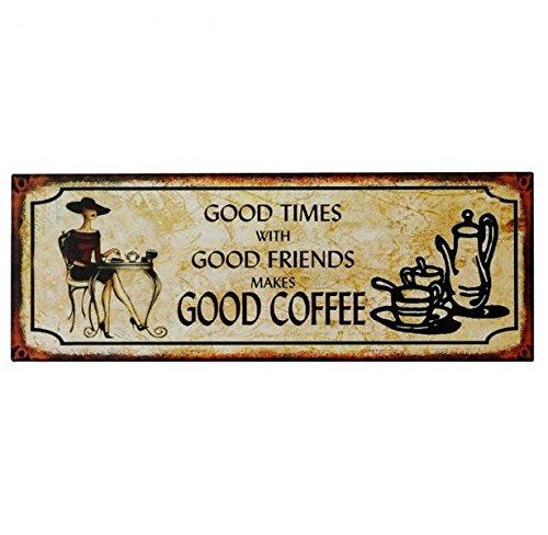 Cartel de chapa Placa Decorativa, Good Times Friends Coffee ...