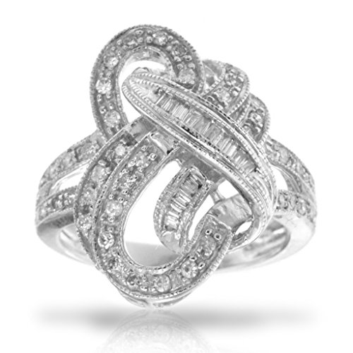 14k White Gold Dimond Ring, Birthstone o - Diamond Forever Right Hand Ring Shopping Results