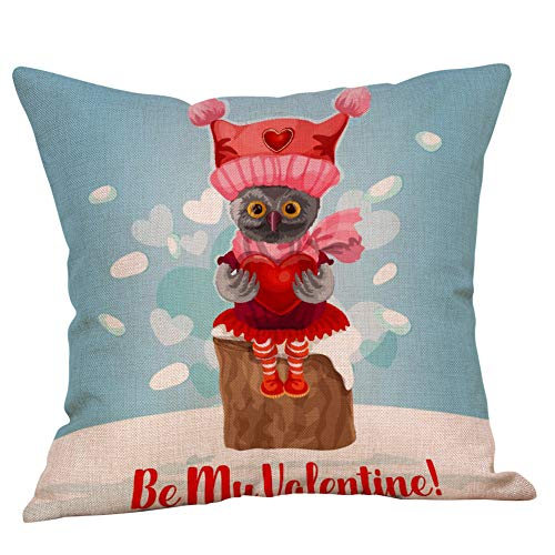 scamper Pillowcase for Valentine's Day I Love You Throw Pillow Covers Christmas Square Sofa Bedroom Car 45cm45cm