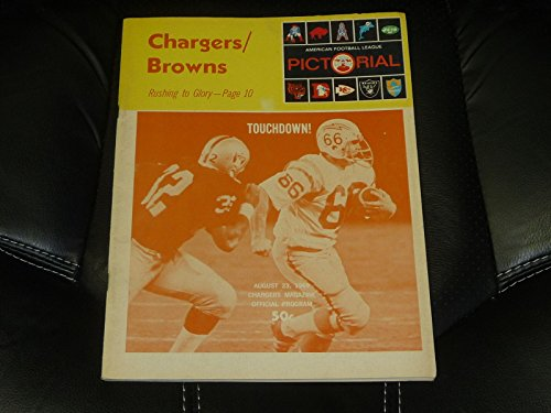 (1969 AFL SAN DIEGO CHARGERS VS BROWNS FOOTBALL PROGRAM EX)