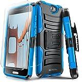 htc one phone accessories - Evocel HTC One A9 Case [Generation Series] Rugged Holster [Kickstand & Belt Swivel Clip] + HD Screen Protector For HTC One A9 / HTC Aero, Blue (EVO-HTCA9-AB202)