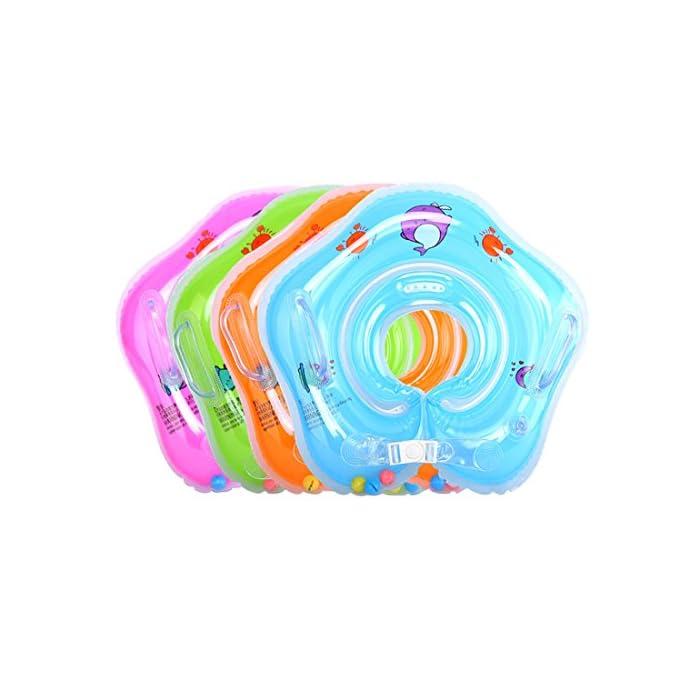 51fZqUGyBBL Suave y cómodo: El diámetro interior del bebé nadar anillo con costuras de tecnología sin costura, protege la piel delicada de su bebé. Salud y protección del medio ambiente: El uso de materiales respetuosos del medio ambiente del PVC, no tóxico, garantía de calidad. Especificación: Diámetro interno aproximadamente 9cm / 3.5inch. Diámetro exterior aproximadamente 39cm / 15.3inch.