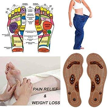 zreal 1/Paar Foot Care Kissen Akupressur Slimming Einlegesohle Pad magnetisch Massage Schuhe Einlegesohlen 35-40