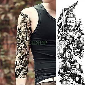 Handaxian Etiqueta engomada del Tatuaje 3pcs Buda Impermeable ...