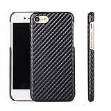 6 plus carbon case - iPhone6 & 6plus Carbon Fiber case luxury Ultra Thin full cover (IPHONE 6/6S Plus Black)