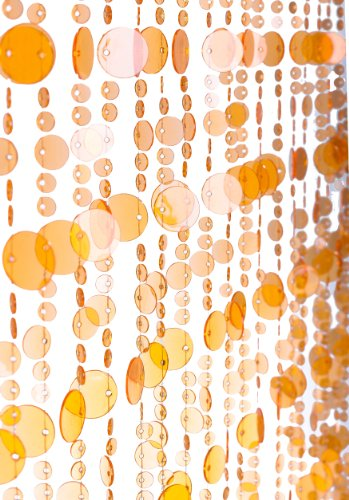 - ShopWildThings Beaded Curtain Bubbles Orange Acrylic