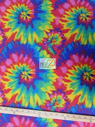 ASSORTED PRINT POLAR FLEECE FABRIC - Tie Dye - 60 WIDTH SOLD BTY ANTI PILL (585) by Big Z Fabricの商品画像
