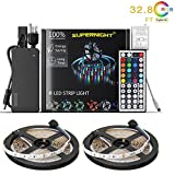 120 key cabinet - NEW 2018 LED Strip Lights Kit Non-waterproof– 32.8ft (10M) 600 LEDs SMD 3528 RGB Light with 44 Key Remote Controller, Extra Adhesive Tape, Flexible Changing Multi-Color Lighting Strips for TV, Room