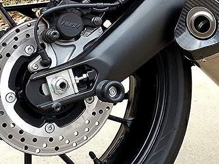 Hunter-Bike M6 X1.5 Universal Motorcycle Swingarm Spools Sliders for Yamaha YZF R1 R3 R6 R25 R1000 R125 R3 600R Blue